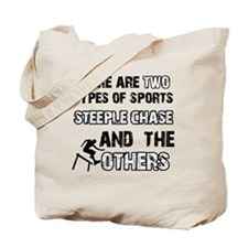 Steeple Chase designs Tote Bag