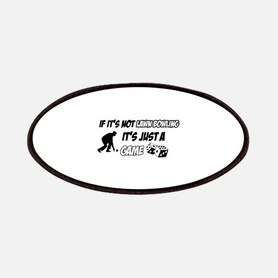 Lawnbowling lover designs Patches