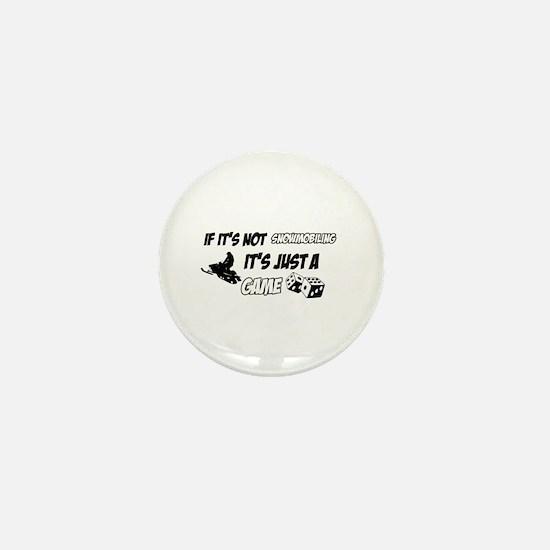 Snow Mobile lover designs Mini Button
