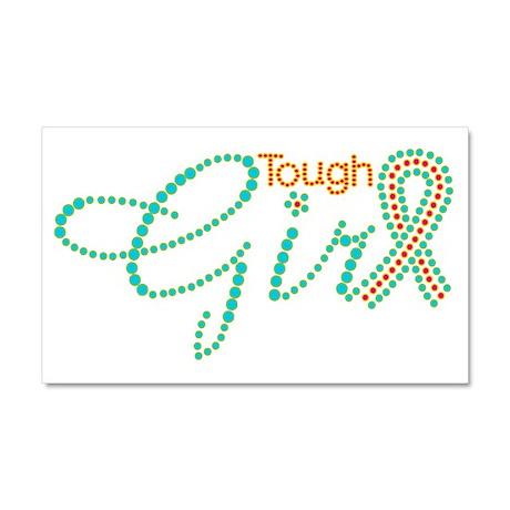 Tough Girl Car Magnet 20 x 12