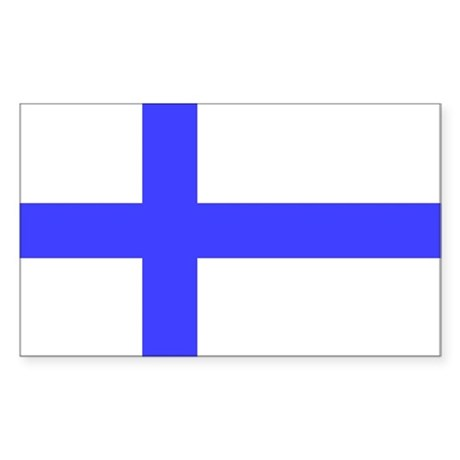 Flag of Finland Rectangle Sticker