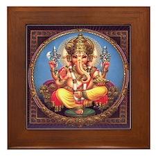 Ganesha Framed Tile