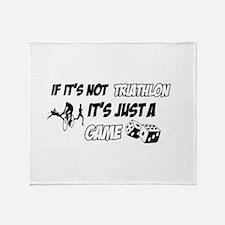 Triathlon lover designs Throw Blanket