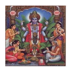 Vishnu Tile Coaster