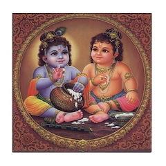 Krishna Tile Coaster