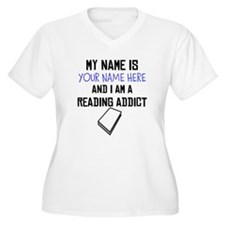 Custom Reading Addict Plus Size T-Shirt