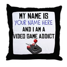 Custom Video Game Addict Throw Pillow