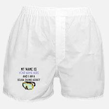 Custom Scuba Diving Addict Boxer Shorts