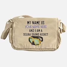 Custom Scuba Diving Addict Messenger Bag
