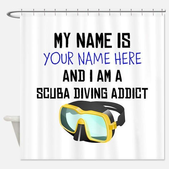 Custom Scuba Diving Addict Shower Curtain