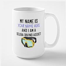 Custom Scuba Diving Addict Mug
