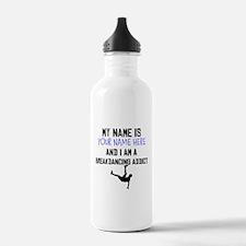 Custom Breakdancing Addict Water Bottle