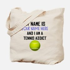 Custom Tennis Addict Tote Bag