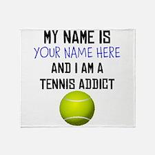Custom Tennis Addict Throw Blanket