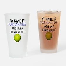 Custom Tennis Addict Drinking Glass