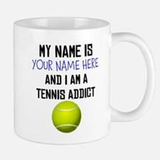 Custom Tennis Addict Small Small Mug