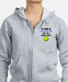Custom Tennis Addict Zip Hoodie