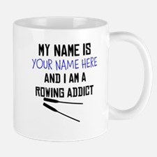 Custom Rowing Addict Small Small Mug