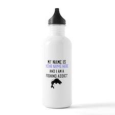 Custom Fishing Addict Water Bottle