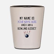 Custom Bowling Addict Shot Glass