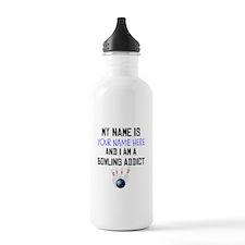 Custom Bowling Addict Water Bottle