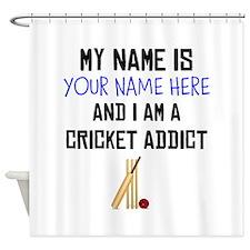 Custom Cricket Addict Shower Curtain