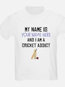 Custom Cricket Addict T-Shirt