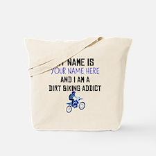Custom Dirt Biking Addict Tote Bag
