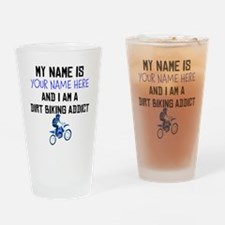 Custom Dirt Biking Addict Drinking Glass
