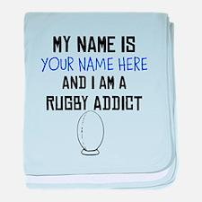 Custom Rugby Addict baby blanket
