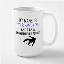 Custom Snowboarding Addict Mug