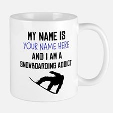 Custom Snowboarding Addict Small Small Mug