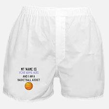 Custom Basketball Addict Boxer Shorts