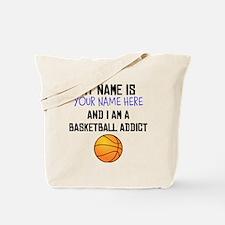 Custom Basketball Addict Tote Bag