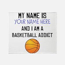 Custom Basketball Addict Throw Blanket