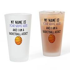 Custom Basketball Addict Drinking Glass