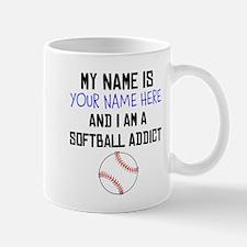 Custom Softball Addict Mug