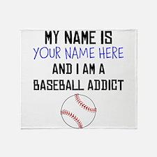 Custom Baseball Addict Throw Blanket