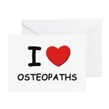 I love osteopaths Greeting Cards (Pk of 10)