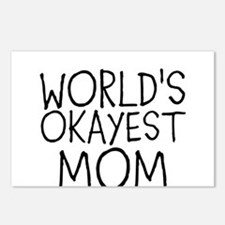 WORLDS OKAYEST MOM Postcards (Package of 8)
