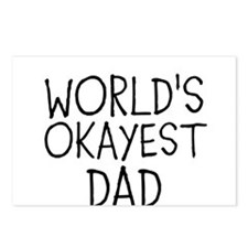 WORLDS OKAYEST DAD Postcards (Package of 8)