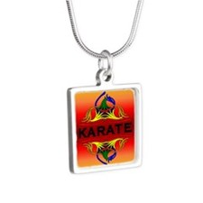 Karate Abstract Swirls Necklaces