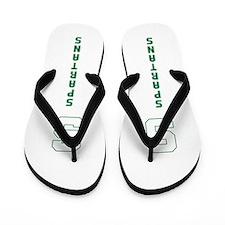 Michigan Spartans State College Flip Flop Sandals