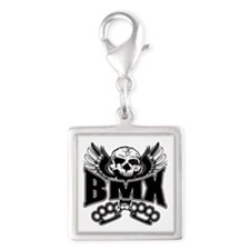 BMX Brass Knuckles Silver Square Charm