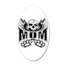 Mom Rocks 35x21 Oval Wall Decal