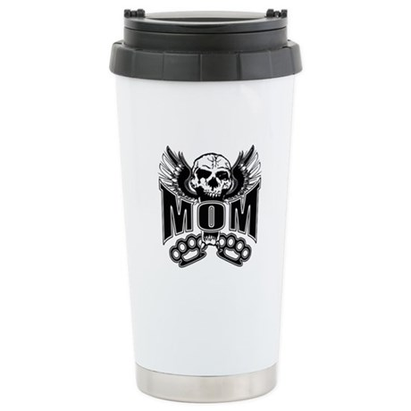 Mom Rocks Stainless Steel Travel Mug