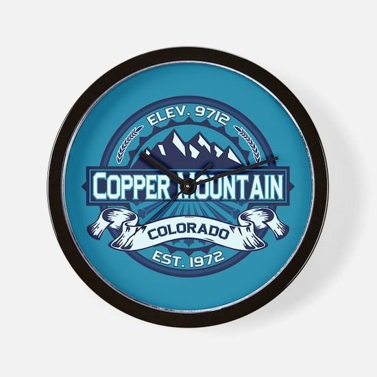 Copper Mountain Ice Wall Clock
