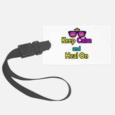 Crown Sunglasses Keep Calm And Heal On Luggage Tag