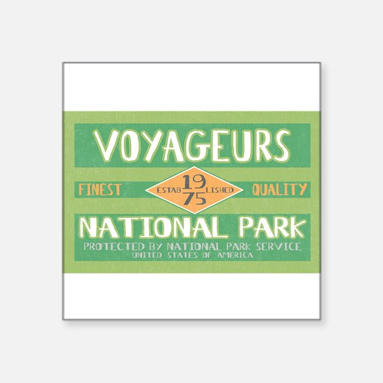 Voyageurs National Park (Retro) Sticker (Rectangul