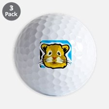 hamster drawing Golf Ball